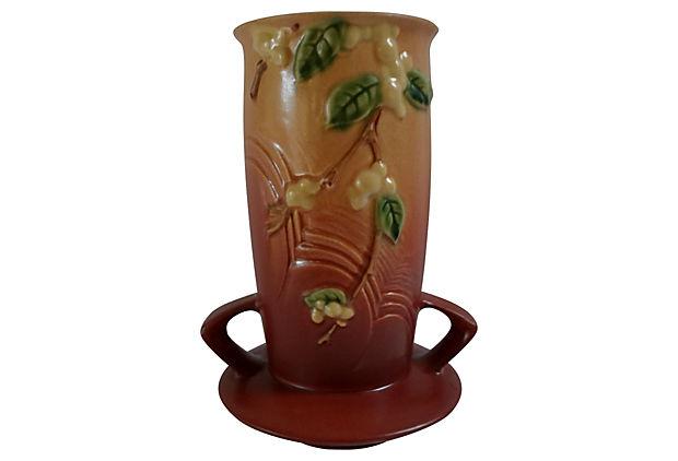 Roseville 1947 Snowberry Vase Billy Blue Eye Pottery Paintings