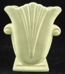 "Haeger Pottery, c. 1980's 9.5"" x 7.5"" x 4"" Tulip Scroll Off White Vase, $65.00"