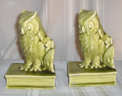 "c. 1948 Pair of 5.75"" Rookwood Pottery Bookends $375.00"