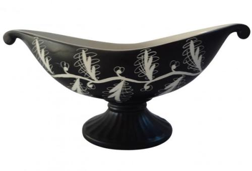 "c.1957-72 by Albert Hallam in '57 13"" x 6"" Centerpiece Console MCM orig label, Item #1498-2, $155.00"